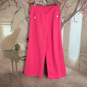Lilly Pulitzer Pink Linen Mix Randa Wide Leg Pants